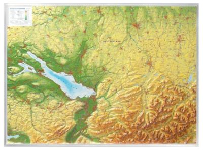 Relief Allgäu Bodensee 1:200.000, Reliefkarte, André Markgraf, Mario Engelhardt