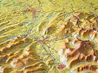 Relief Allgäu Bodensee 1:200.000, Reliefkarte - Produktdetailbild 3