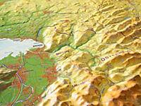 Relief Allgäu Bodensee 1:200.000, Reliefkarte - Produktdetailbild 1