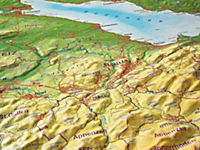 Relief Allgäu Bodensee 1:200.000, Reliefkarte - Produktdetailbild 4