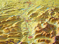 Relief Allgäu Bodensee 1:200.000, Reliefkarte - Produktdetailbild 5