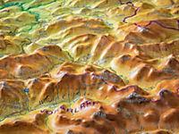 Relief Allgäu Bodensee 1:200.000, Reliefkarte, mit Holzrahmen - Produktdetailbild 1