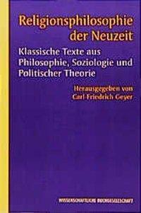 Religionsphilosophie der Neuzeit
