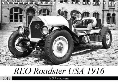 REO Roadster USA 1916 - in Schwarzweiss (Tischkalender 2019 DIN A5 quer), Ingo Laue