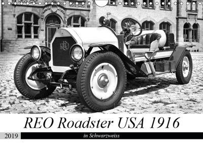 REO Roadster USA 1916 - in Schwarzweiss (Wandkalender 2019 DIN A4 quer), Ingo Laue