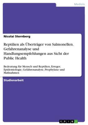 Reptilien als Überträger von Salmonellen. Gefahrenanalyse und Handlungsempfehlungen aus Sicht der Public Health, Nicolai Sternberg