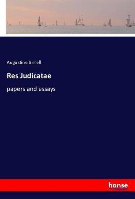 Res Judicatae, Augustine Birrell