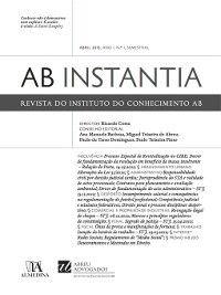 Revista do Instituto do conhecimento AB Instantia--Abril 2013, Ano I, n.º 1, Semestral, Almedina