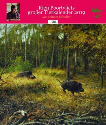 Rien Poortvliet grosser Tierkalender 2019, Rien Poortvliet