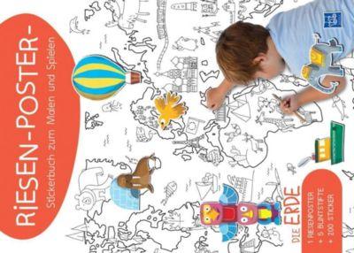 Riesen-Poster-Stickerbuch zum Malen und Spielen - Die Erde