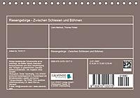 Riesengebirge - Zwischen Schlesien und Böhmen (Tischkalender 2019 DIN A5 quer) - Produktdetailbild 13
