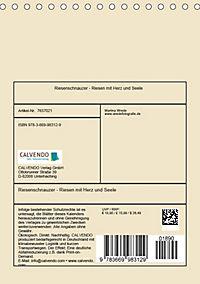 Riesenschnauzer - Riesen mit Herz und Seele (Tischkalender 2019 DIN A5 hoch) - Produktdetailbild 13