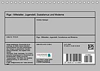 Riga - Mittelalter, Jugendstil, Sozialismus und Moderne (Tischkalender 2019 DIN A5 quer) - Produktdetailbild 13