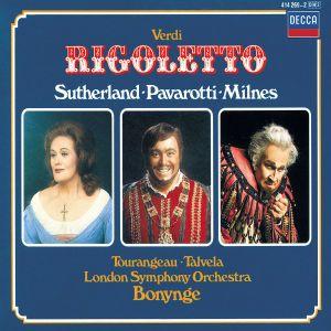 Rigoletto (Ga), Pavarotti, Milnes, Bonynge, Lso