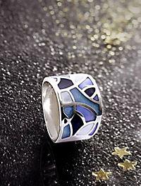 """Ring """"Maren"""", Silber 925, Echt-Emaille (Ringgröße: 20) - Produktdetailbild 1"""