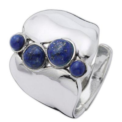 Ring Nila, Silber 925, mit Lapislazuli