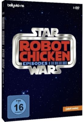 Robot Chicken Starwars - Episode I and II and III, 3 DVDs