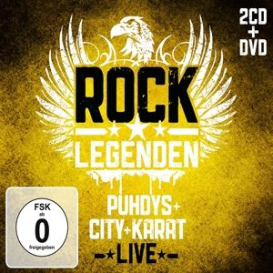 Rock Legenden Live (Limited Deluxe Edition, 2 CDs+DVD), Puhdys, City, Karat