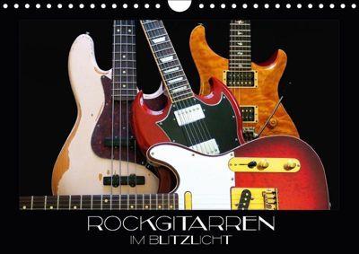 Rockgitarren im Blitzlicht (Wandkalender 2018 DIN A4 quer), Renate Bleicher