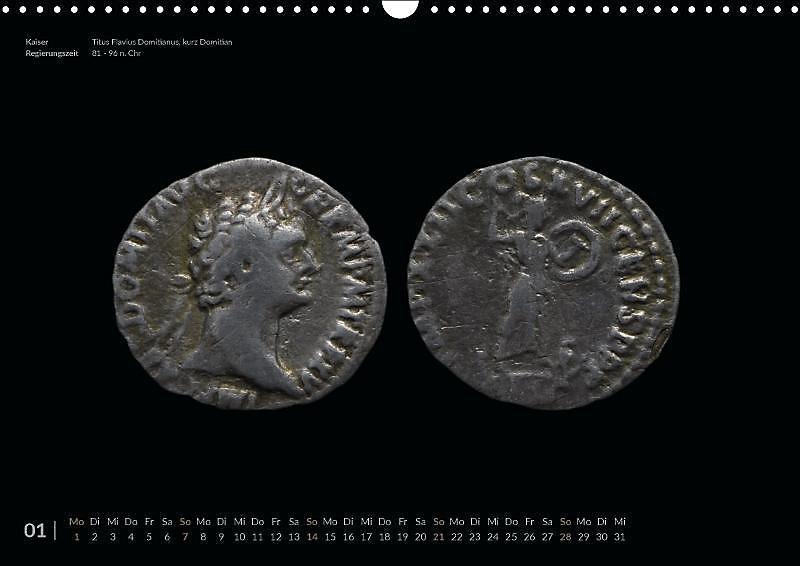 Römische Münzen Zeitreise In Die Antike Wandkalender 2018 Din A3