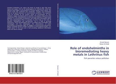 Role of endohelminths in bioremediating heavy metals in Lethrinus fish, Amaal Hassan, Hanan Al-Helali