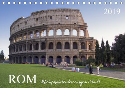 Rom, Blickpunkte der ewigen Stadt.AT-Version (Tischkalender 2019 DIN A5 quer), Roland T. Frank