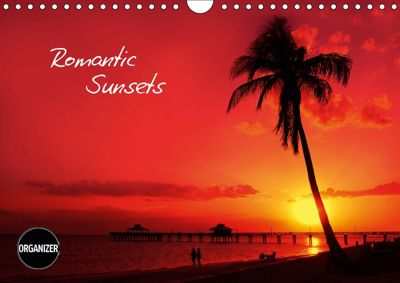 ROMANTIC SUNSETS (Wall Calendar 2019 DIN A4 Landscape), Melanie Viola