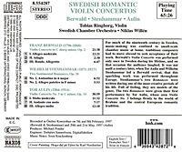 Romantische Violinkonzerte schwedischer Komponisten - Produktdetailbild 1