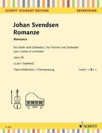 Romanze op. 26, Violine und Orchester, Klavierauszug + Solostimme - Johan Severin Svendsen |