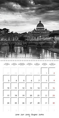 Rome The eternal city monochrome (Wall Calendar 2019 300 × 300 mm Square) - Produktdetailbild 6