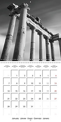 Rome The eternal city monochrome (Wall Calendar 2019 300 × 300 mm Square) - Produktdetailbild 1