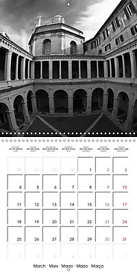 Rome The eternal city monochrome (Wall Calendar 2019 300 × 300 mm Square) - Produktdetailbild 3