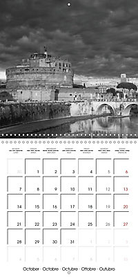 Rome The eternal city monochrome (Wall Calendar 2019 300 × 300 mm Square) - Produktdetailbild 10