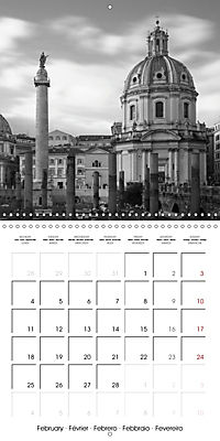 Rome The eternal city monochrome (Wall Calendar 2019 300 × 300 mm Square) - Produktdetailbild 2
