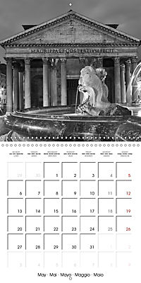 Rome The eternal city monochrome (Wall Calendar 2019 300 × 300 mm Square) - Produktdetailbild 5