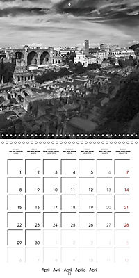 Rome The eternal city monochrome (Wall Calendar 2019 300 × 300 mm Square) - Produktdetailbild 4