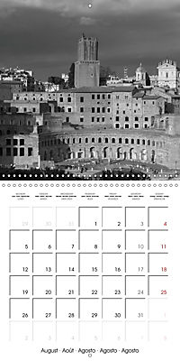 Rome The eternal city monochrome (Wall Calendar 2019 300 × 300 mm Square) - Produktdetailbild 8