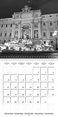 Rome The eternal city monochrome (Wall Calendar 2019 300 × 300 mm Square) - Produktdetailbild 11