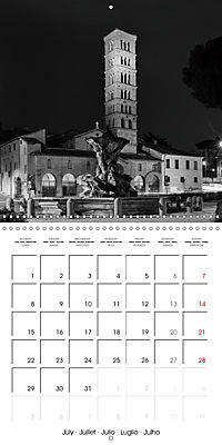Rome The eternal city monochrome (Wall Calendar 2019 300 × 300 mm Square) - Produktdetailbild 7