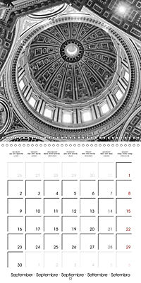 Rome The eternal city monochrome (Wall Calendar 2019 300 × 300 mm Square) - Produktdetailbild 9