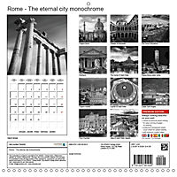 Rome The eternal city monochrome (Wall Calendar 2019 300 × 300 mm Square) - Produktdetailbild 13