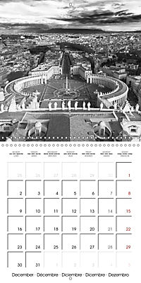 Rome The eternal city monochrome (Wall Calendar 2019 300 × 300 mm Square) - Produktdetailbild 12