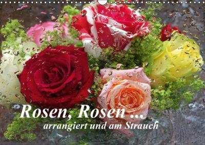 Rosen, Rosen ... arrangiert und am Strauch (Wandkalender 2019 DIN A3 quer), Gisela Kruse