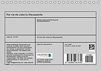 Rot wie die Liebe by Mausopardia (Tischkalender 2019 DIN A5 quer) - Produktdetailbild 13