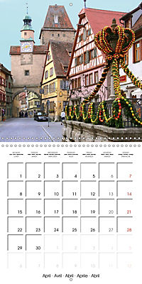 Rothenburg o.d.T. -Fairy Tale Dream Town (Wall Calendar 2019 300 × 300 mm Square) - Produktdetailbild 4