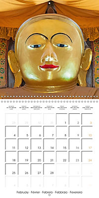 Royal Bagan (Wall Calendar 2019 300 × 300 mm Square) - Produktdetailbild 2