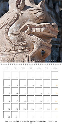 Royal Bagan (Wall Calendar 2019 300 × 300 mm Square) - Produktdetailbild 12