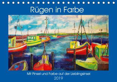Rügen in Farbe - Mit Pinsel und Farbe auf der Lieblingsinsel (Tischkalender 2019 DIN A5 quer), Michaela Schimmack