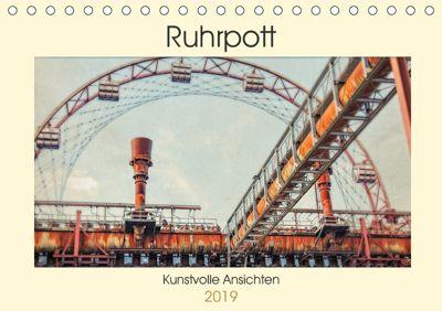 Ruhrpott - Kunstvolle Ansichten (Tischkalender 2019 DIN A5 quer), Heribert Adams