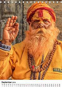 Sadhus - Die heiligen Männer von Nepal (Tischkalender 2019 DIN A5 hoch) - Produktdetailbild 9